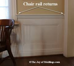 chair rail return your chair rail on top of door or window trim the joy of