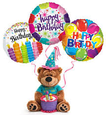 birthday delivery balloons plush birthday with balloons the cake plays happy birthday