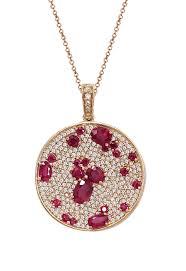 rose necklace diamond images Effy gemma 14k rose gold natural ruby and diamond pendant 4 19 tcw jpg