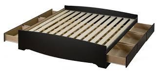 Bed Platform With Drawers Prepac Sonoma Black King 6 Drawer Platform Storage Bed Beyond Stores