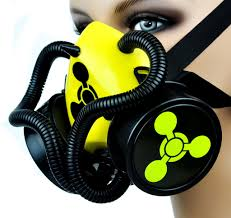 Gas Mask Halloween Costume Chemical Weapons Sign Tubes Single Respirator Gas Mask Party
