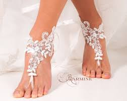 barefoot sandals for wedding footless sandals etsy