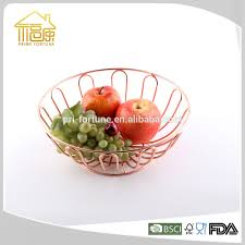 Modern Fruit Holder Copper Wire Basket Copper Wire Basket Suppliers And Manufacturers