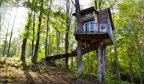 this cozy vermont treehouse sleeps three