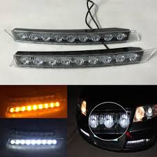 audi a4 a6 a3 passat golf drl light daytime running strip 9 led
