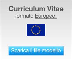 curriculum vitae pdf formato unico curriculum vitae modelli cv da compilare