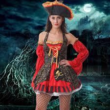Girls Halloween Pirate Costume 2017 Cosplay Costume Woman Pirates Halloween Christmas