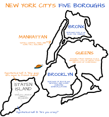 New York Borough Map by July 2013 Pardon My French Guiana