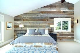 chambre deco bois mur en bois pour une dacco originale de chambre a coucher murs en