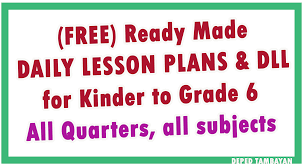daily log lesson plan for grade 1