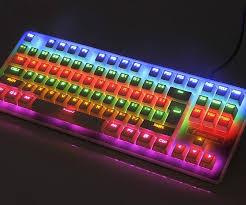Light Up Wireless Keyboard Rainbow Light Up Mechanical Keyboard Rainbow Light