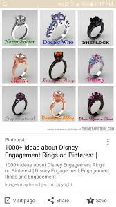 doctor who engagement ring any disney tv show inspired engagement rings out there