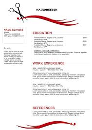 Html Resume Samples by Hairdressing Cv Template Best Resume Examples Receptionist Sample