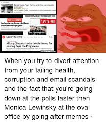 Fact Frog Meme - n the news donald trump pepe the frog and white supremacists an
