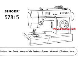 singer 57815 instruction manual