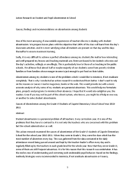 sample narrative report for preschool action research on student and pupil absenteeism in school action research on student and pupil absenteeism in school teachers questionnaire