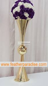 Vases Wholesale Bulk Discount 29 Inches Reversible Gold Metal Trumpet Vases Bulk