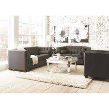 Livingroom Set Coaster Cairns Livingroom Set In Charcoal Local Furniture Outlet
