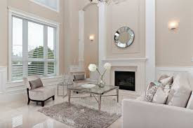 modern wall sconces living room family room transitional with