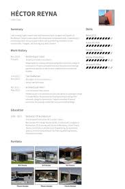 Portfolio Resume Sample by Architectural Intern Resume Samples Visualcv Resume Samples Database