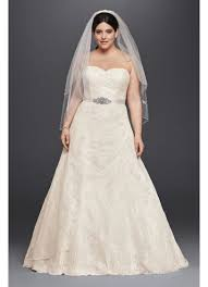 wedding dresses david s bridal allover lace plus size a line wedding dress david s bridal