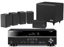 yamaha home theater speakers yamaha rx v481 av receiver w tannoy hts101xp speaker package 5 1