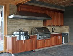 Summer Kitchen Designs Small Outdoor Kitchen Design And Decoration Using Light Brown