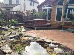 Backyard Pond Landscaping Ideas Stunning Landscape Design Ideas W Fish Pond U0026 Paver Patio By