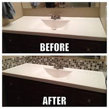 Bathroom Vanity Backsplash Ideas Bathroom Tile Diy Ideas Pinterest Builder Grade Mirror