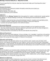 Biology Sample Resume by Sample Resume Resume For Licensed Teachers Keywords Rsvpaint