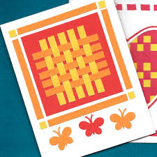 how to make paper weaving cards tutorial greeting card class