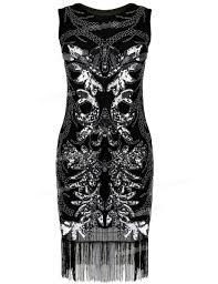 prettyguide women u0027s 1920s gatsby art deco sequin beads fringed hem