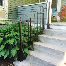 Wrought Iron Stair by Rustic Fence Design Wrought Iron Stair Railing