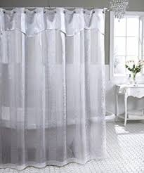 Sheer Shower Curtains Sheer Shower Curtain Grey 72x72 Home Kitchen