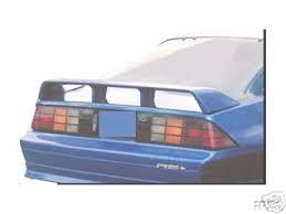 camaro rear spoiler chevrolet camaro spoiler 1982 1992 factory z28 rear wing
