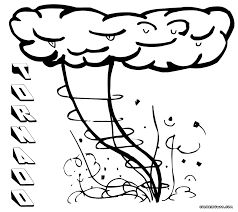 tornado coloring pages wizard oz tornado scene coloring