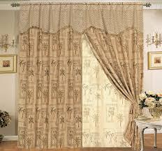 Tassels For Drapes Classic Palm Tree Curtain Set W Valance Sheer Tassels