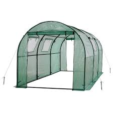 Greenhouse Windows by Ogrow 15 Ft X 6 Ft X 6 Ft 2 Door Walk In Tunnel Greenhouse With