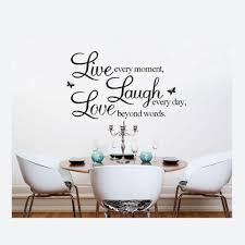 50 70cm english words wall stickers live laugh love removable