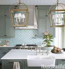 kitchen green mosaic tiles glass tile backsplash kitchen wall