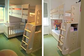 Crib Loft Bed Bunk Bed With Crib On Bottom And Bunk Bed Crib Bottom Startcourse Me