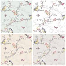 holden decor phoebe birds wallpaper 4 colours wallpaper