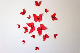 mydreamdecors u2022 red wall art red and black butterfly wall art