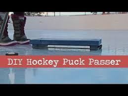 diy hockey puck passer youtube