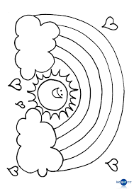 rich young ruler coloring page free online rainbpw sun colouring page rainbows free and craft