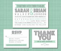 wedding invitations rsvp wording printable wedding suite invitation rsvp thank you set printable