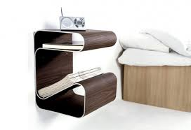 creative bedside tables pleasant simple table bed decor ideas one