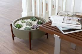 Low Bowl Planters by Case Study Planter Case Study Planters With Walnut Stand Case