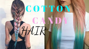 hair candy extensions cotton candy hair how to pink blue ombre dyeing extensions