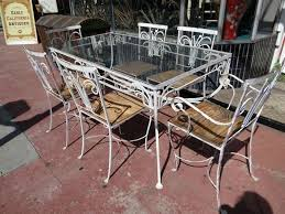 metal outdoor table and chairs iron outdoor dining set lesdonheures com